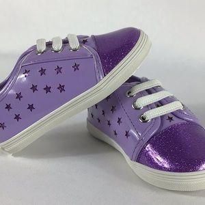 Baby Michael Kors Purple Sparkle Star Shoes